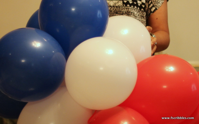 French flag balloons