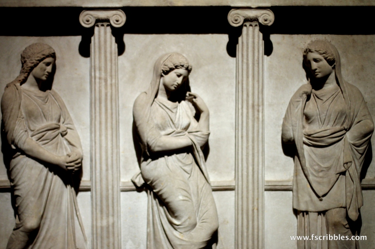 Sarcophagus Mourning Women Istanbul