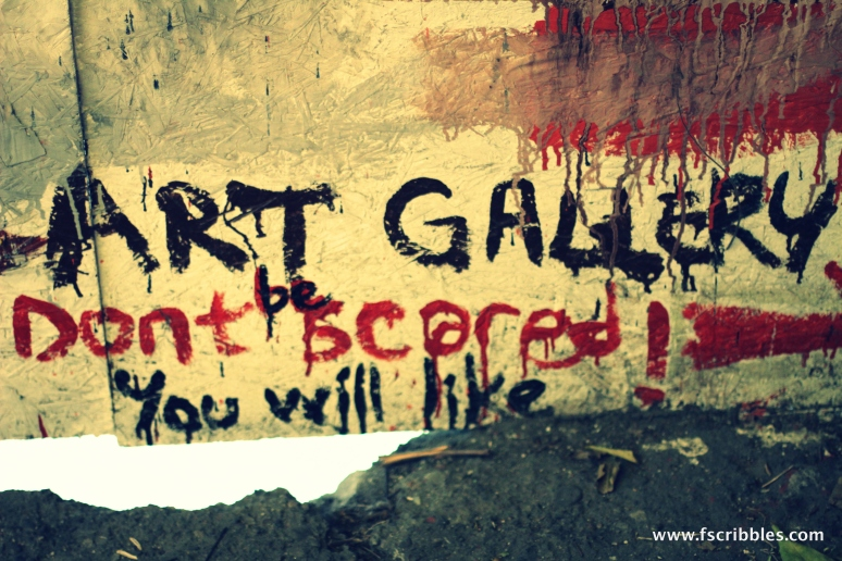 art gallery, don't be scared