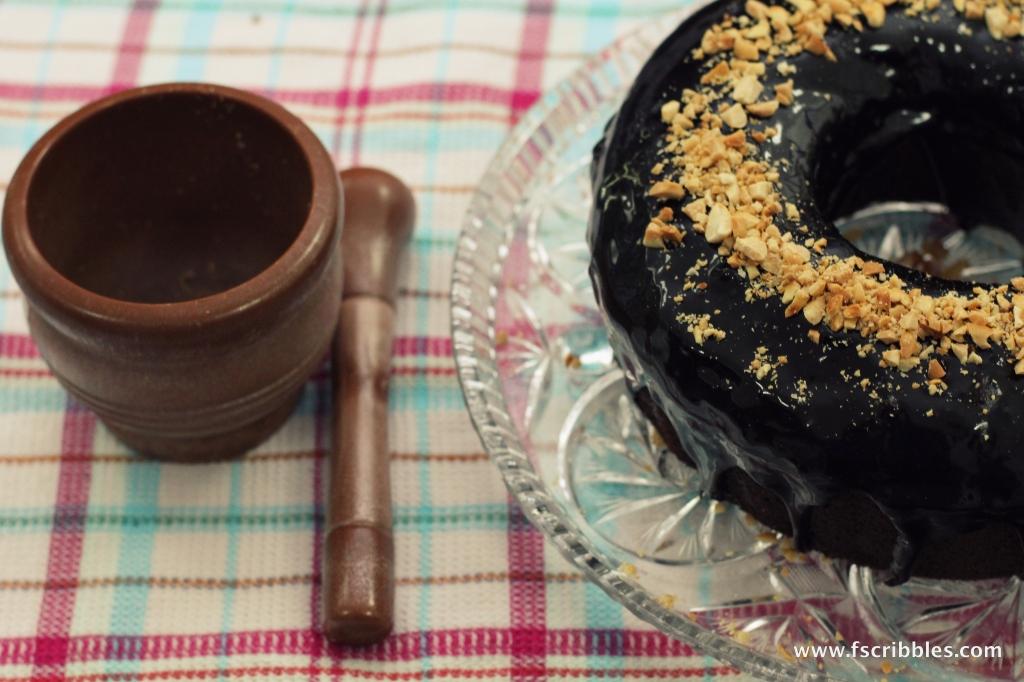 Eid chocolate date cake
