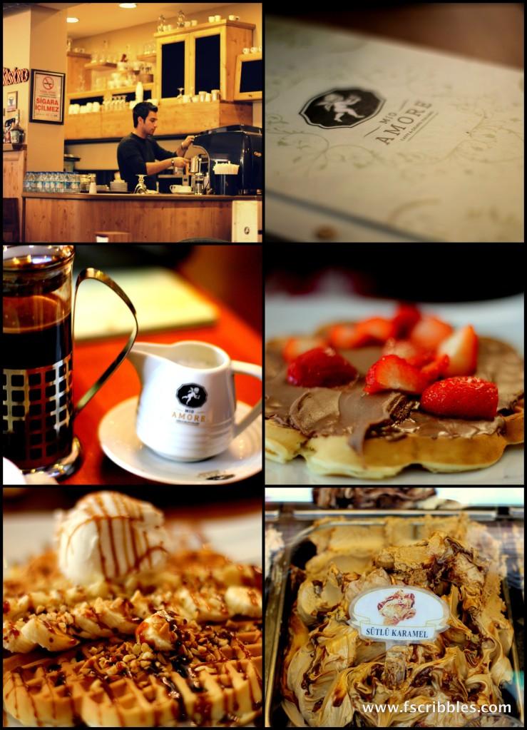 Mio Amore Turkey coffee and waffles