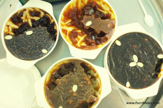 Different types of Sultani halwa